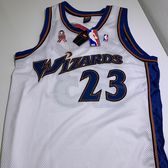 size 40 eecaf 40fe2 AUTHENTIC JORDAN WIZARDS JERSEY (9/11 EDITION) NWT